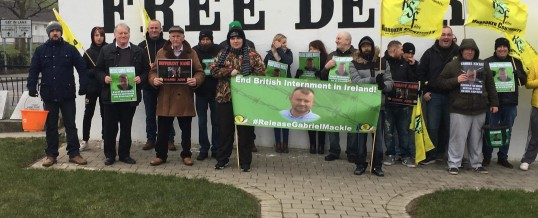 Republican Sinn Féin Hold picket in Derry in support of Gabriel Mackle